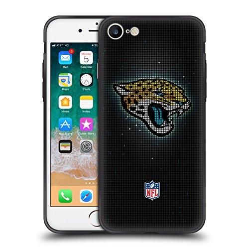 Offizielle NFL LED 2017/18 Jacksonville Jaguars Skinny Fit Hybride Durchsichtig Hülle für Apple iPhone 7 / iPhone 8 (Jacksonville Jaguars-platte)