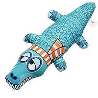 gendies Pet Toys Molar Bite Resistant Crocodile Vocal Soft Toy 36cm blue