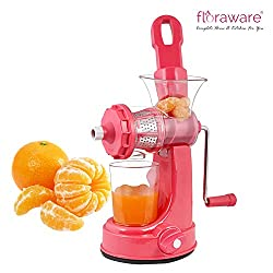 Floraware Plastic Fruit and Vegetable Juicer With Vacuum Locking System (Pink)