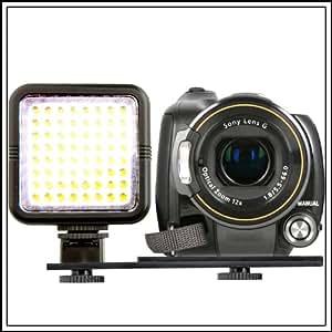 Eclairage Lampe 64 LED pour caméra video de caméscope DV,Canon EOS 100D 550D 600D 6500D 700D 1100D 1200D,50D 60D 70D,7D,6D SX50,Nikon D7100 D7000 D5300 D5100 D5200,D3100,D3200 D3300,D800,L830 P520 FUJI FinePix HS30 HS50 X-S1 S4500 S8600,Panasonic FZ72 FZ200,G6 GH6,OLYMPUS E30 E3 E1,Sony HX400 HX300 A58,A65,A99,A77,Pentax DSLR Reflex Numériques & Compacts hybrides