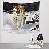 3D moda moderna la impresión digital tapiz cuadrado de poliéster decoración mantel tigre grande toalla de playa 150x130cm.