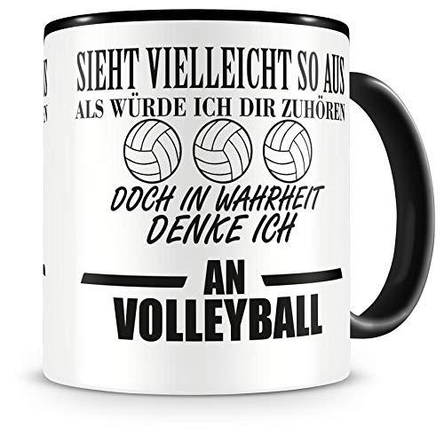 Samunshi® Ich denke an Volleyball Tasse Kaffeetasse Teetasse Kaffeepott Kaffeebecher Becher