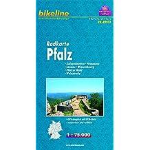 bikeline Radkarte Pfalz: Kaiserslautern - Pirmasens - Landau - Wissembourg - Pfälzer Wald - Weinstraße, RK-RPF07. 1:75.000, wasserfest/reißfest, GPS-tauglich mit UTM-Netz