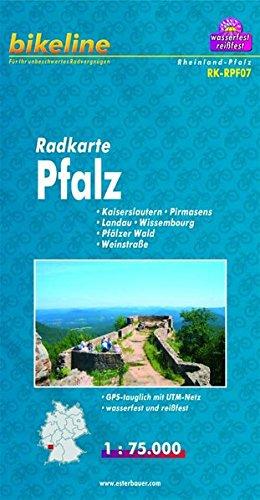 Pfalz Cycle Map: BIKEK.DE.RPF7 por Esterbauer