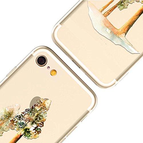 MOMDAD Coque pour iPhone 6 6S Silicone TPU Etui iPhone 6 6S Souple Coque pour iPhone 6 6S 4.7 Pouces Housse Bling Transparent Arrière Case Motif Shell Cas Couverture {Anti-Choc} {Anti-Shock Bumper} Ca Art tree-6