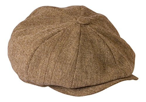 peaky-blinders-style-oatmeal-tweed-cloth-cap-by-gamble-gunn-61cm