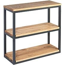 etagere vintage bois metal. Black Bedroom Furniture Sets. Home Design Ideas