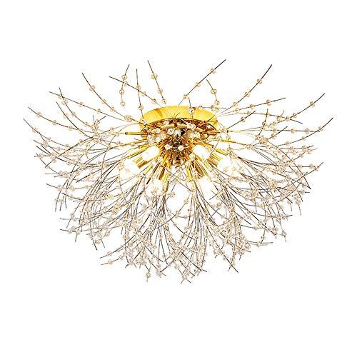 Romantisch Kristall Branch Deckenleuchte, Warm Schlafzimmer lampe LED Deckenlampe, Luxus Büro Wohnzimmer Ehe Zimmer lampe Ceiling Light, Babyzimmer lampe Study Deckenbeleuchtung Ø60cm 30W Dimmbar