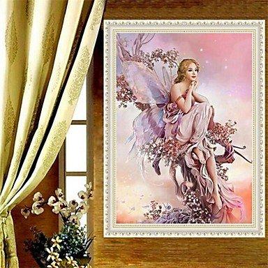 ZYT 1Pcs 45*32cm 5D DIY Diamond Painting Diamond Embroidery Cross Stitch Angel Picture Home Decoration 5D Needlework Diamond Mosaic