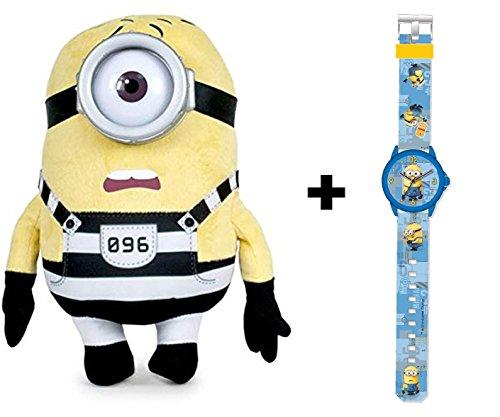 Reloj analógico infantil con Peluche Stuart de regalo