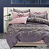 Magnetic Shadow Polycotton Queen Size AC Comforter Set with Bedsheet (230x250cm, Multicolour)