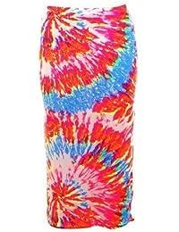 FANTASIA BOUTIQUE ® Ladies Tie Dye Print Crop Top Midi Elasticated Pencil Skirt