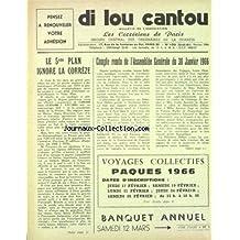 DI LOU CANTOU [No 106] du 01/02/1966 - LE 5EME PLAN IGNORE LA CORREZE - COMPTE RENDU DE L'ASSEMBLEE GENERALE