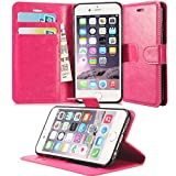 GBOS APPLE IPHONE 7 / IPHONE 8 COVER, PINK LEATHER WALLET FLIP CASE COVER SOFT POUCH BOOK CASE COVER STAND CASE FOR APPLE IPHONE 7 / IPHONE 8