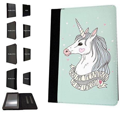 003457–Usted es el arco iris a mi unicornio cita diseño Amazon Kindle Voyage 15,24cm 2014–2015modelos funda bolso de la bolsa Párese cubierta