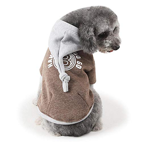 Pet Dog Cat Clothes Hoodie Winter Warm Sweater Coat Kostüm Apparel ()