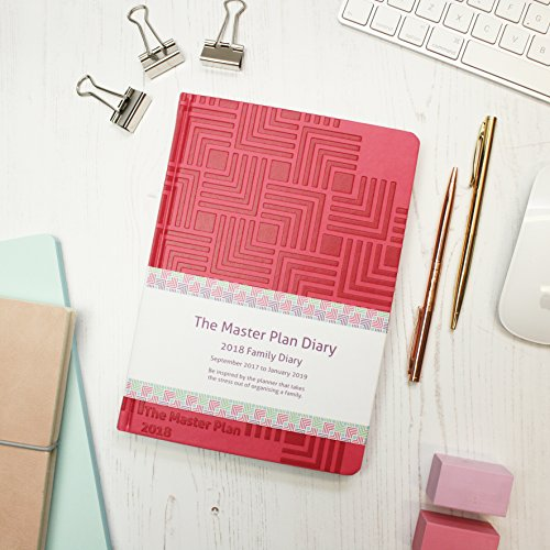 The Master Plan 2017 to 2018 - Family Diary (Week to View) - Fuscia Pink