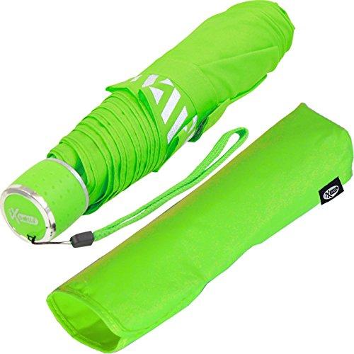 iX-brella Mini Kinderschirm Safety Reflex Extra Leicht - Neon grün