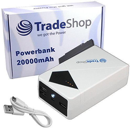 20000mAh Powerbank Reserve Zusatz Akku Ladegerät Lader Micro-USB Mini-USB für Q6 Stylus 3 X power2 X Venture Medion Life E4504 E5005 E5006 E5020