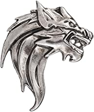 TRIPIN Silver Classic Lion Design Lapel PIN Brooch for Men Women for Office Corporate Wedding Party French Cuff Shirts Shirt Suit Blazer in A Gift Box