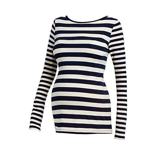 """2HEARTS Le T-shirt de grossesse à manches longues """"Maritime Stripes"""" T-shirt de grossesse T-shirt de grossesse Multicolore"""