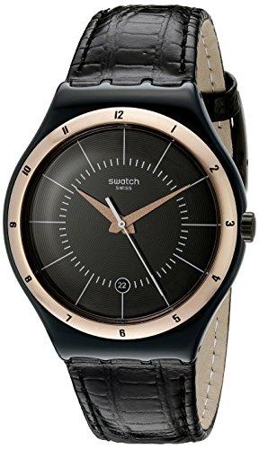 Swatch YWB403 - Orologio da polso Uomo, Pelle, colore: Nero