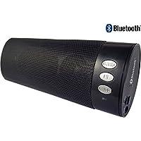 AntilaTech Bluetooth 4.1 Wireless o cablata Rechargeable altoparlante stereo portatile sistema audio con Auxiliary Bass Radiator, DSP Anti-Noise, bassi profondi, microfono - Adatto per i dispositivi Bluetooth ad esempio smartphone & laptop, e qualsiasi dispositivo Non-Bluetooth con 3.5mm presa di uscita audio compreso CD e lettori MP3 (Black)