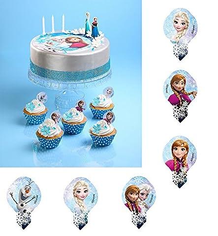 Pic Azyme Frozen Reine des Neiges MOD Cupcake Gateau biscuit ALEATOIRE - 181