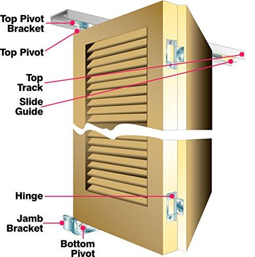 Slik - Binario pieghevole per porte, kit di utensili incluso, per porte di dimensioni non superiori a 914 mm, 08SL006091