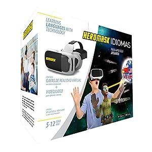 Virtual Reality Brille + Sprachen Lernen Kinderspiele [ Geschenke Für Kinder ]: Spanisch, Englisch… Lernspiele für 5-12 Jahre. Pädagogisches Spielzeug. Weißes Modell
