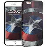 "iPhone 6s Plus Funda, HICASER 3D Creative Patrón Flexible TPU Case Antideslizante Carcasa para Apple iPhone 6 Plus / 6s Plus 5.5"" -Capitan America"
