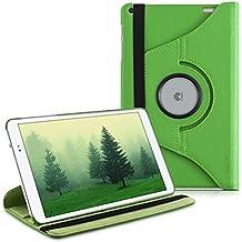 kwmobile Funda 360° para > Huawei MediaPad T1 10 < Carcasa con pie de soporte - Funda protectora para tablet bolso con función de soporte en verde