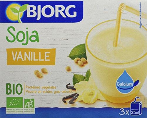 Bjorg Mini Boisson Soja Vanille Calcium Biologique 3 x 25 cl - Lot de 4