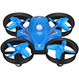 Redpawz R010 Mini Rc Quadcopter 4Ch 2.4G 6-Axis 3D Flips And Rolls Headless Mode One Key Return (Blue)