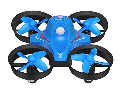 Redpawz R010 Mini Rc Quadcopter 4Ch 2.4G 6-Axis 3D Flips And Rolls Headless Mode One Key Return (Blue)