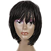 trecce synthetic Lace Front Wigs for African Americans box intrecciato parrucche 30,5 cm