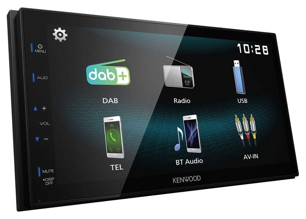 caraudio24-Kenwood-DMX125DAB-Bluetooth-2DIN-USB-DAB-MP3-Autoradio-fr-BMW-X3-E83-2004-2010-mittig