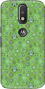The Racoon child drawings green hard plastic printed back Case for Motorola Moto G Plus 4th Gen