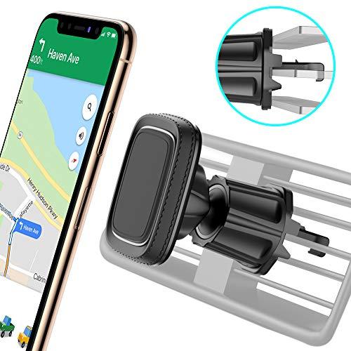 miracase MOVING LIFE Handyhalterung Auto Magnet, Universal 360° Drehbarer KFZ Smartphone Halterung Lüftung, 6 Magnete Schwarz