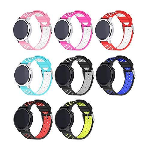 Altsommer für Huawei Uhr GT Armband,Silikon Armband mit Wasserdicht,Atmungsaktiv Sportarmband,Ersatz Armbanduhr Classic Band Strap Armband mit Multi Farben für Damen Herren (Weiß) Weiß Multi Strap