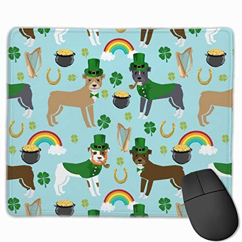 St Pattys Day St. Patricks Day Dog Design -Blue Mousepad 18x22 cm ()