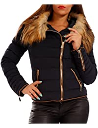 Young-Fashion Winter Outdoor Quilted Jacket Faux Fur Women's Jacket