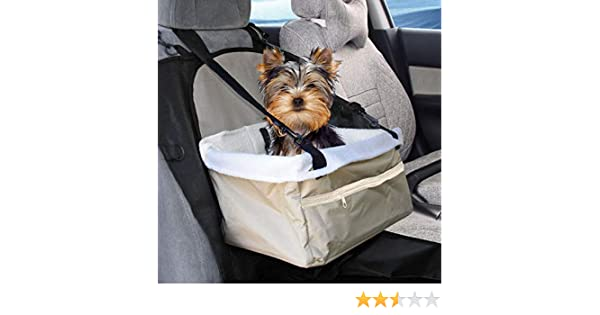 PACK OF 1 DEENZ PET CAR SEAT COVER CARRIER PORTABLE FOLDABLE TRAVEL CARRIER BAG WITH SEAT BELT FOR DOG CAT PUPPY CAR SEAT BOOSTER WITH FRONT ZIP