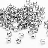 Skyllc® 100X Remaches Metal 6mm Redondo Tachuelas Bolsa/Calzado/Guante