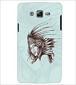 PrintDhaba QUEEN FACE D-6285 Back Case Cover for SAMSUNG GALAXY ON7 (Multi-Coloured)