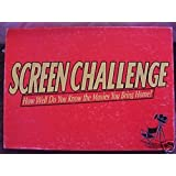 SCREEN CHALLENGE How Well do you Know the movies you bring home? 1991 by Cadaco