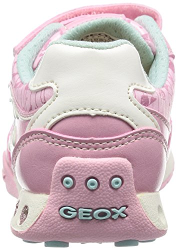 Geox Jr New Jocker A, Baskets Basses fille Rose (Ce83B)