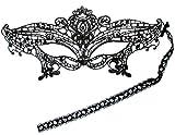 PRESKIN - Masque de dentelle noir pour le carnaval, la séduction vénitienne, masque sexy pour le déguisement et le Parti, fifty shades of grey