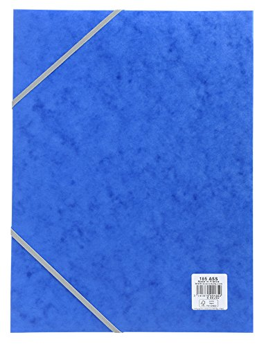 (Exacompta 18505H Cartobox Archivbox (Manila-Karton, Rücken 25 mm, DIN A4) 1 Stück blau)