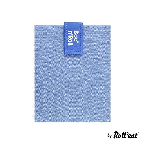 Roll 'eat BOC' n 'Roll, Eco, Porta Sandwiches wiederverwendbar, Tasche Lunchtasche, Sprechblase, BPA-frei, blau (Blaue Tischdecke Roll)